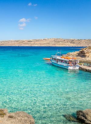 Comini & de Blue Lagoon van Malta