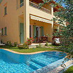 Mooiste stranden Corfu: Barbati, Appartementen La Riviera Barbati