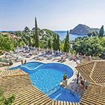 Mooiste stranden Corfu: Paleo ArtNouveau Hotel