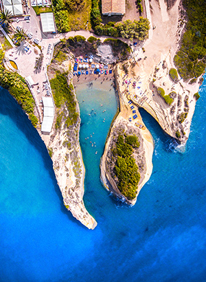 Mooiste stranden van Corfu: Canal d'Amour, Sidari
