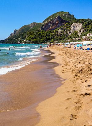 Mooiste stranden Corfu: Glyfada