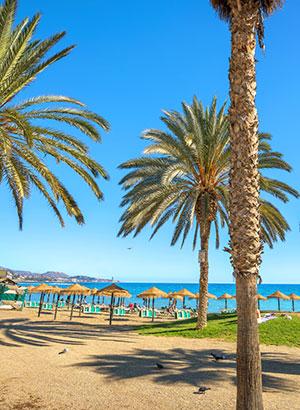 Steden met strand: Malaga