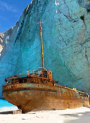 Doen in Griekenland: scheepswrak Zakynthos