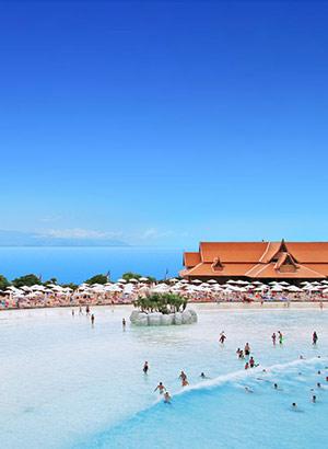 Siam Park, waterpark op Tenerife: strand