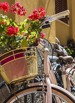 Cagliari, Sardinie: fiets