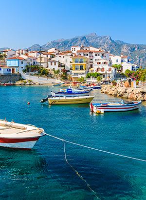 Zon juni bestemmingen Samos