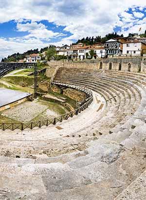 Doen in Ohrid, Macedonië: antieke theater