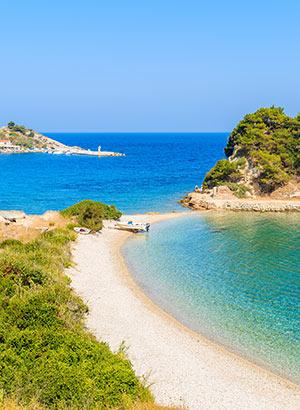 Kokkari, Samos: strand