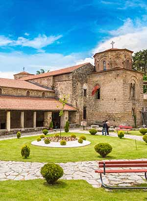 Doen in Ohrid, Macedonië Sveti Sophia