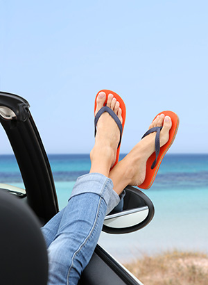 Autovakantie Frankrijk - Praktische tips, draag geen slippers