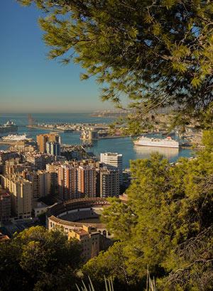 Gratis doen in Málaga: uitzichtpunt