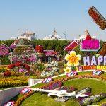 Dubai Miracle Garden, een kleurrijke bloementuin middenin de woestijn