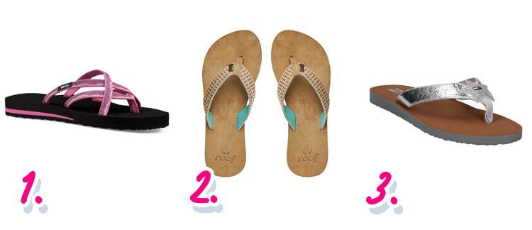 Blote voeten bestemmingen: slippers