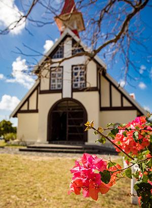 Kerkje bij Cap Malheureux, Noord-Mauritius