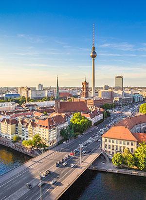 Steden op minder dan 2 uur vliegen: Berlijn
