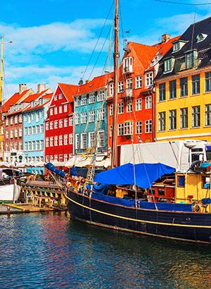 Steden op minder dan 2 uur vliegen: Kopenhagen