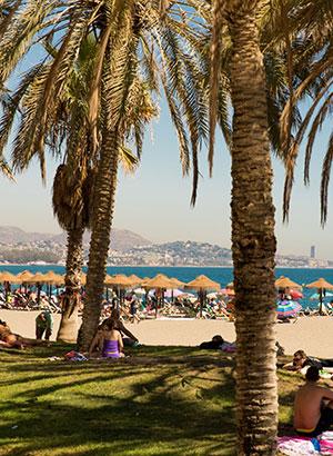 Málaga met kinderen: strand