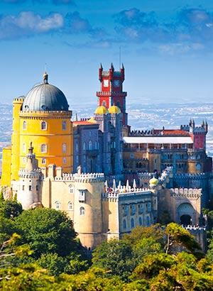 Mooiste kastelen Europa: Palacio Pena