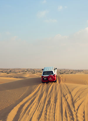 Niet te missen, favorieten in Dubai: jeepsafari