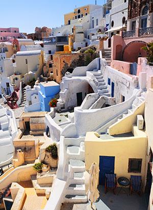 Bezienswaardigheden Oia, Santorini: centrum