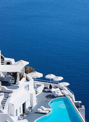 Bezienswaardigheden Santorini, Oia: hotels