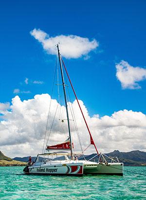 Romantisch Mauritius: boot