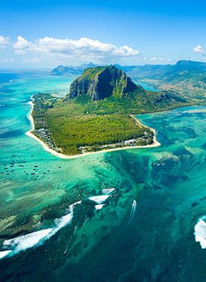Romantisch Mauritius: onderwater waterval