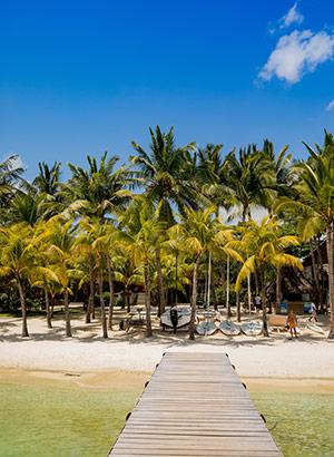 Romantisch Mauritius: strand