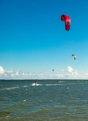 Cumbuco, Brazilië: kitesurfen