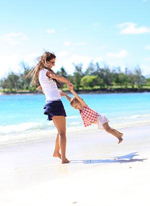 Mauritius met kinderen: strand