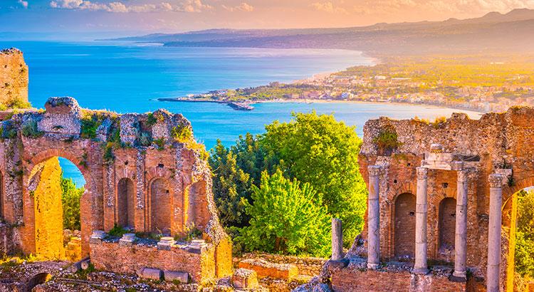 Dolce vita in Taormina, Sicilië