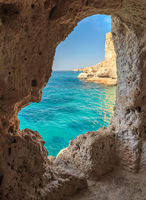 Grotten in de Algarve