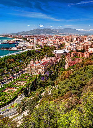 Handleiding Málaga, 4 dagen: uitzicht vanaf Gibralfaro kasteel