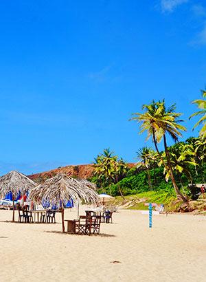 Hippiedorpje Pipa, Brazilië: strand