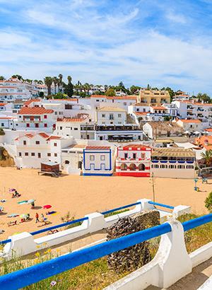Carvoeiro vissersplaatsje Algarve; centrum