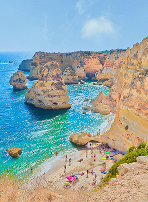 Carvoeiro, vissersplaatjes Algarve; strand