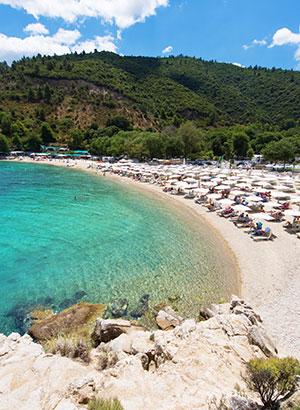 Badplaatsen Griekse vasteland
