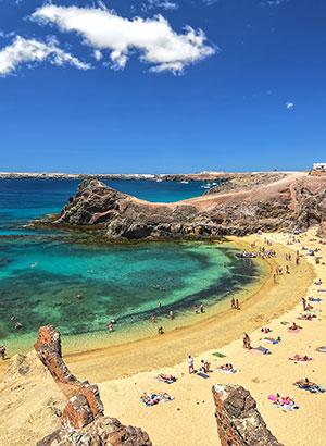 Bezienswaardigheden Lanzarote: Playas del Papagayos