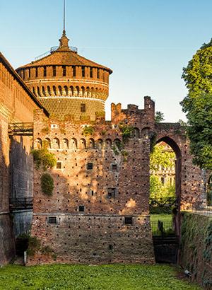 Mooiste kastelen Italië: Milaan, Castell Sforzesco
