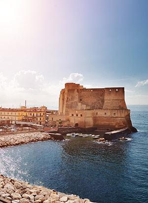 Mooiste kastelen Italië: Castell dell'Ovo, Napels