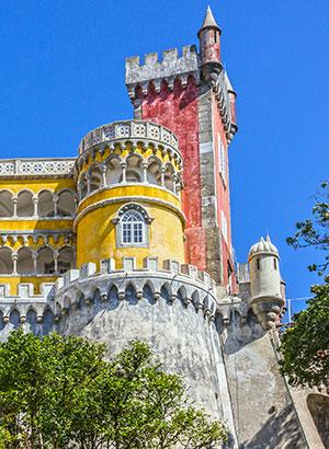 Mooiste kastelen Portugal: Palacio de Pena