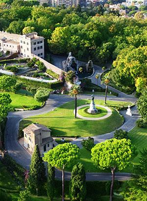 Vaticaanstad, Rome: tuinen