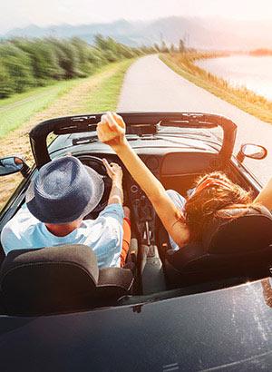 Auto huren vakantie: vrijheid