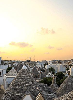 Drukte vermijden Alberobello: zonsondergang