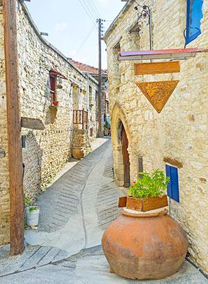 Omodos, Troodosgebergte (Cyprus)