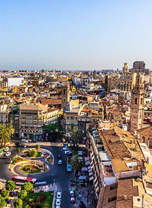 Oude centrum Valencia: pleinen