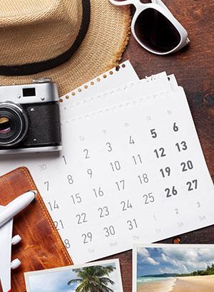 Redenen mini vakantie: kalender