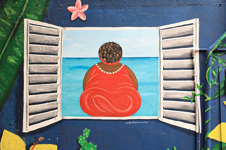 Street art Curaçao: chichi
