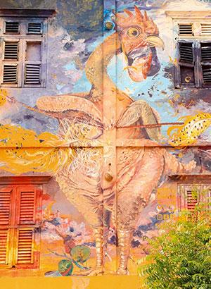 Street art Curacao: kip