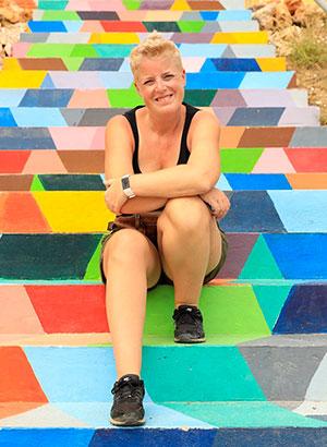 Street art Curaçao: kleurrijke trappen